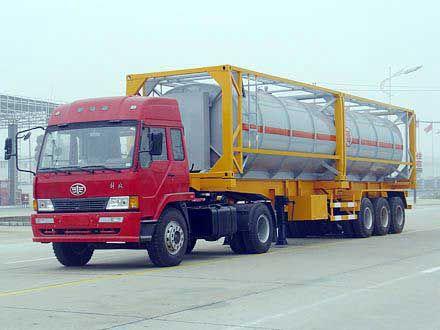 槽车输送气体